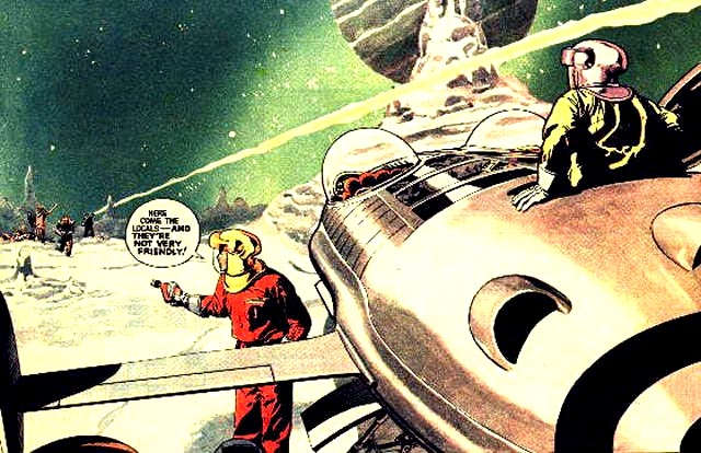"Dan Dare and Digby with ""Anastasia"""
